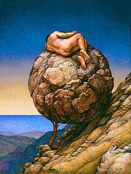 Sisyphus sleeping