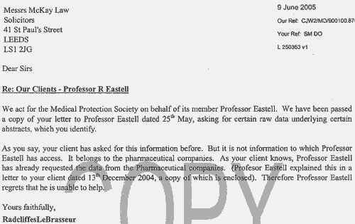 Scientific Misconduct Blog: Procter Research Shenanigans 8: A Lawyer Writes To Eastell